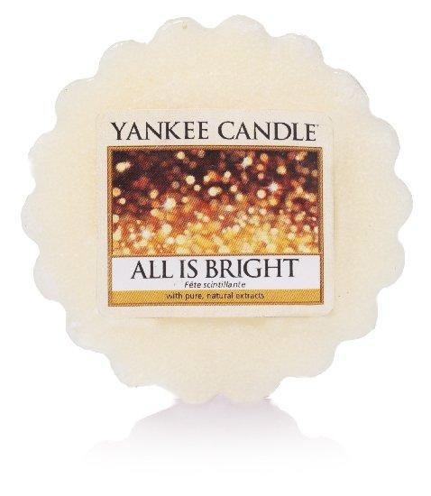 Vosk Yankee Candle All Is Bright 22g bílý