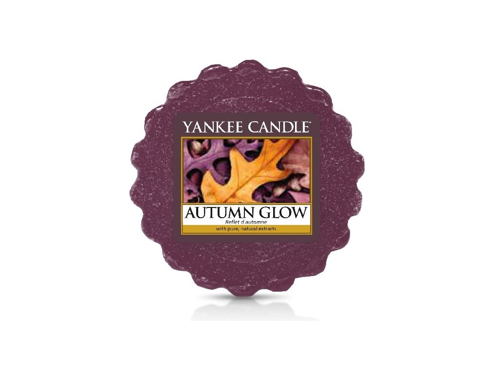 Vosk Yankee Candle Autumn Glow 22g fialový