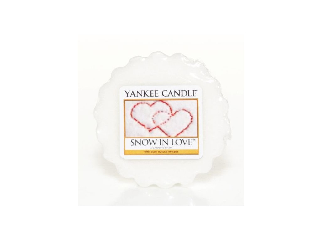 Vosk Yankee Candle Snow in Love 22g bílý